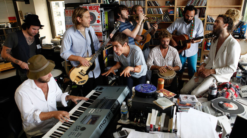 Edward Sharpe and the Magnetic Zeros play a Tiny Desk Concert at NPR.